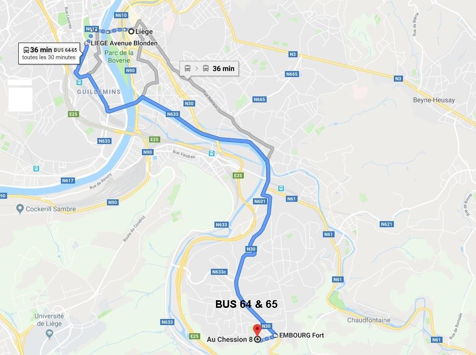 Itinéraire pour Embourg